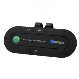 Car Dual-Phones Bluetooth V4.1+EDR Handsfree Speakerphone - Black