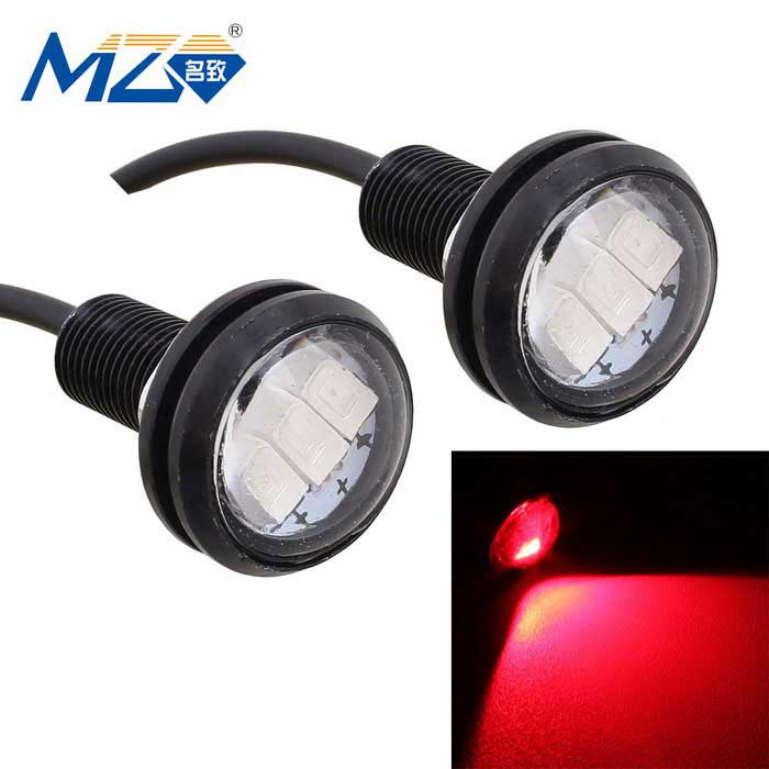 MZ 1.5W 22.5mm Red LED Car Daytime Running Light 660nm 150lm (Pair)