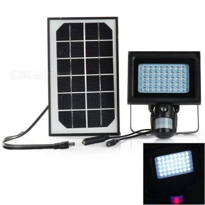Solar Powered 1-CH Windows 7 Projection Lamp + 1.3MP PIR DVR - Black