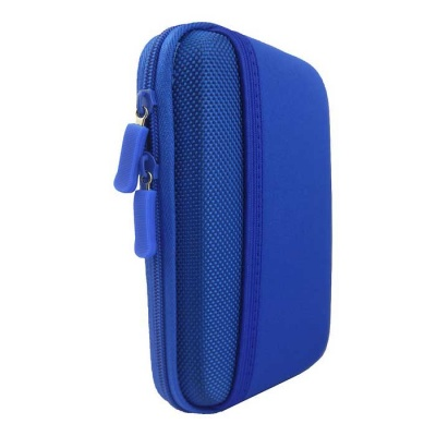 """Protective Shockproof Bag Pouch for 2.5"""" Hard Disk Drive + More - Blue"""
