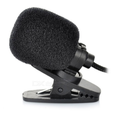 3.5mm Clip-on Microphone for Teaching / Performance / Speech - Black