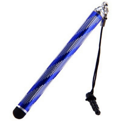 Kinston Touch Screen Stylus Pen w/ Clip, Anti-Dust Plug - Blue + Black