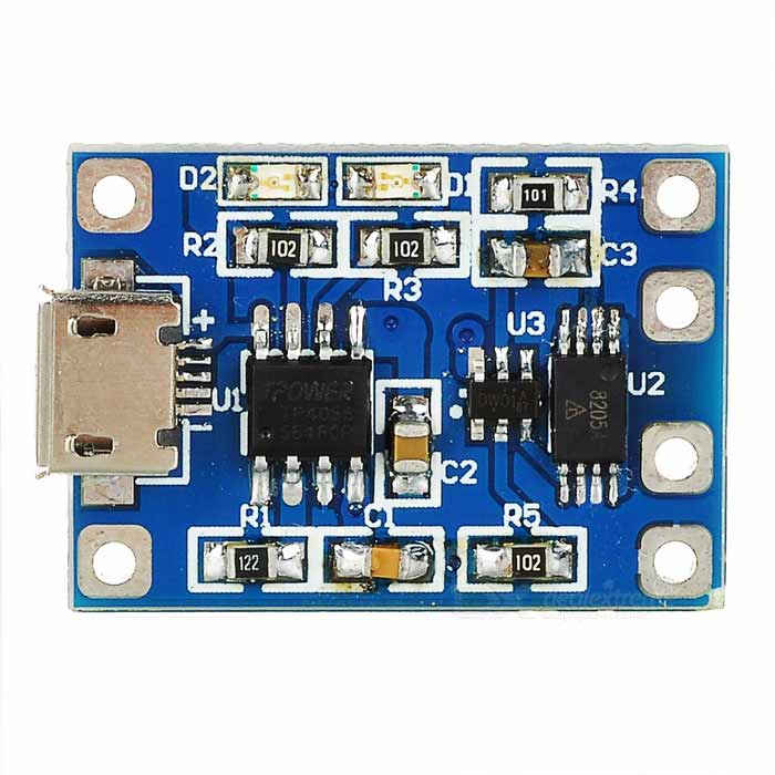 TP4056 1.2A 5V Lithium Battery Charge / Discharge Protection Module