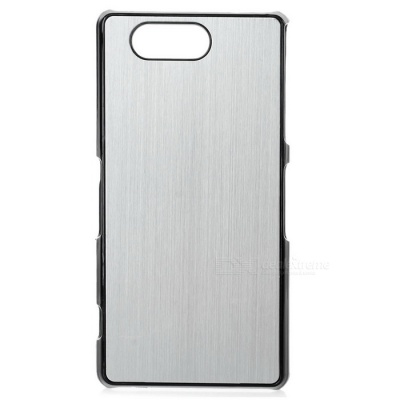 Mini Smile Aluminum Alloy Back Case Cover for Sony Z3 Mini - Silver