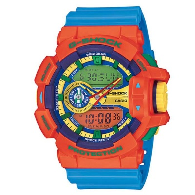 Casio G-Shock GA-400-4AER -Orange + Blue Band