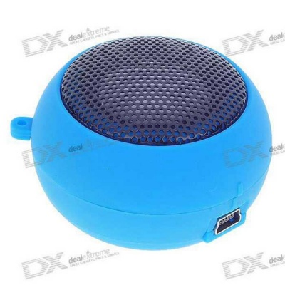 Ultra Mini USB Rechargeable Portable Speaker - Blue (3.5mm/DC 5V)