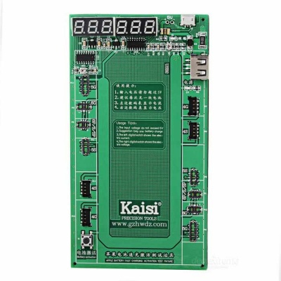 Battery Fast Charger & Activation Circuit Board w/ Current & Voltage Display for APPLE - Green