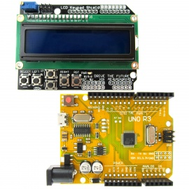 UNO R3 ATmega328P Board + LCD 1602 Keypad Shield Kit for Arduino