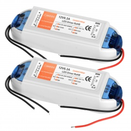 AC 90~240V to DC 12V 6.3A 72W LED Power Drivers - White + Blue (2PCS)