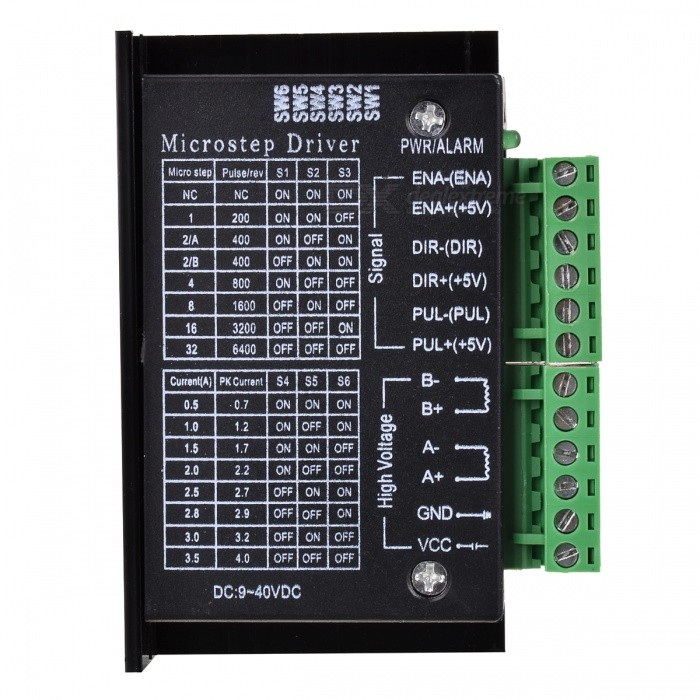 Two-phase / 4.0A Driver for 42/57 Stepper Motor - Black