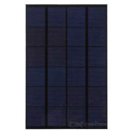 4.2W 6V Output Monocrystalline Silicon Solar Panel - Black + Green