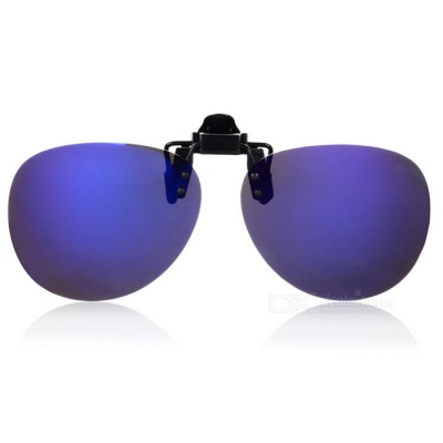 Stylish Resin Clip-on Polarized Frameless Sunglasses - Blue REVO