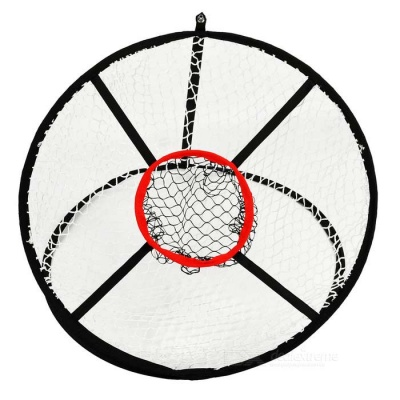 """TOURLOGIC TL-OD101121 24"""" Collapsible Golf Chipping Net - Black"""