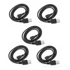 Micro USB to USB Fast-Charging Cables for Phone - Black (70cm / 5PCS)