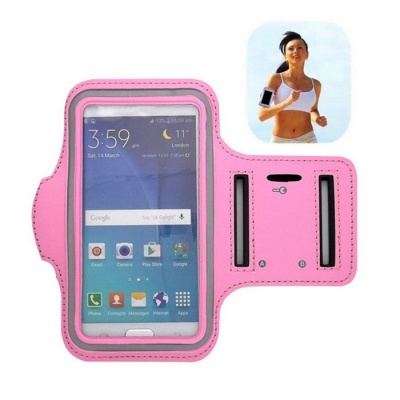 Sports Universal Armband for Galaxy S6/S5/S4 Edge - Pink