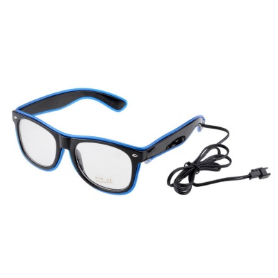 Party / Concert 3-Mode LED Glasses w/ Controller - Blue + Black