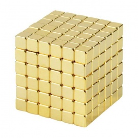 5mm 6*6*6 Neodymium Magnet Cube DIY Puzzle Toy - Golden