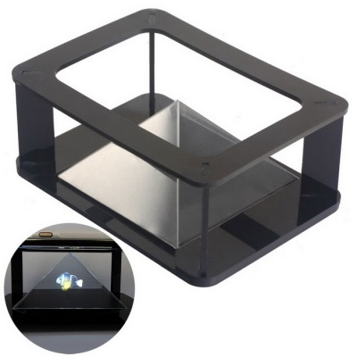 NEJE HD Pyramid 3D Holographic Projecting MV Projector Case - Black