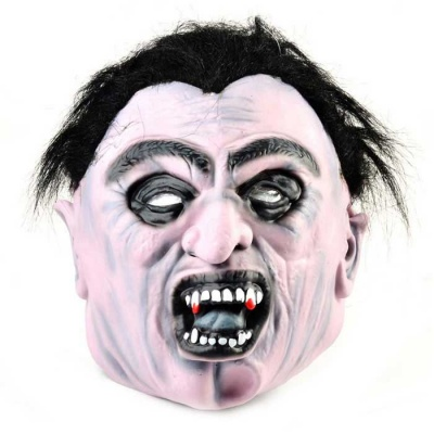 Corpse Rubber Mask for Cosplay / Halloween w / Elastic Belt - Black
