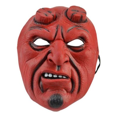 Halloween Party Cosplay Devil Rubber Mask - Red