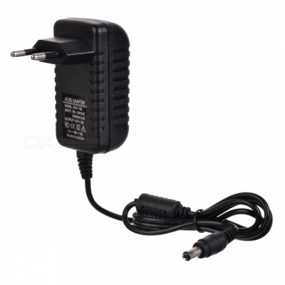 12V 2A EU Plug Power Adapter - Black (100~240V / 5.5*2.1mm)