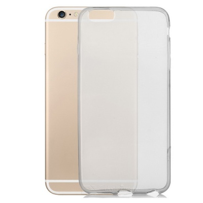 Silicone Case + Screen Protector for IPHONE 6PLUS - Translucent Black