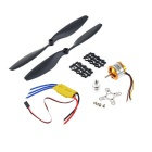 A2212 1000KV Brushless Motor + 1045 Propeller DJI F450 - Black