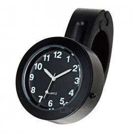 Motorcycle Handlebar Mounted Clock for Harley & More - Black