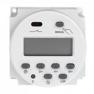 Digital LCD Power Programmable Timer Switch AC 220~240V 16A - White