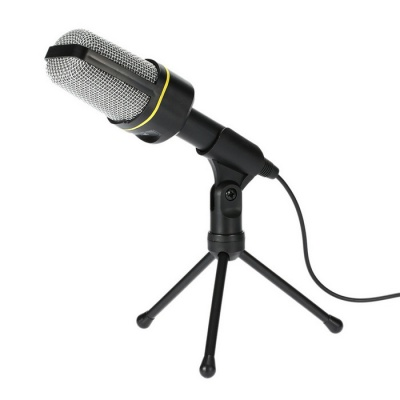 Microphone Podcast Studio Microphone for Laptop / PC - Black