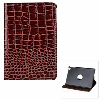 Alligator Pattern Rotation Protective PU Case for IPAD MINI 4 - Brown
