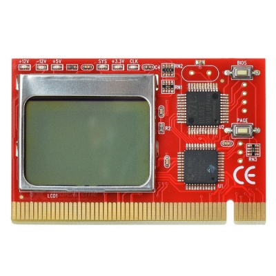 """1.6"""" LCD PCI Computer Motherboard Failure Fault Analyzer Tester - Red"""