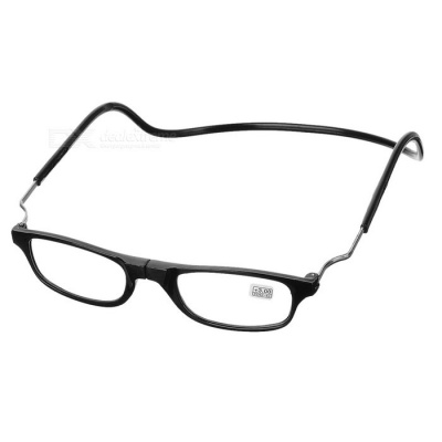 OULAIOU 3.0 Diopter Folding Neck-Wear Reading Glasses - Black
