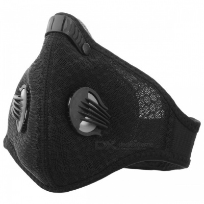 MLD Honeycomb Mesh Cloth Anti Dust Haze Half Face Mask Filter - Black