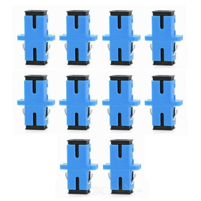 SC to SC Fiber Optic Adapter Connector - Blue (10PCS)