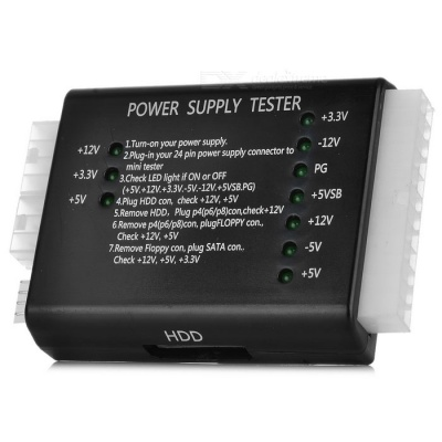 DIY Computer Power Supply Tester - Black