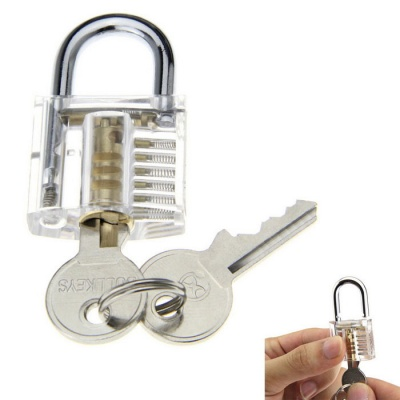 Mini Slotted Transparent Pratice Padlock