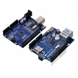 Improved UNO R3 ATMEGA328P Board + Ethernet Shield W5100 for Arduino