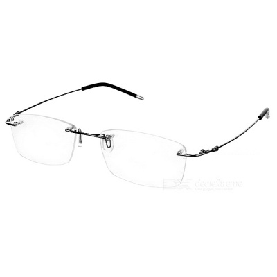 304 Stainless Steel Optical Spectacle Frame - Silvery Black