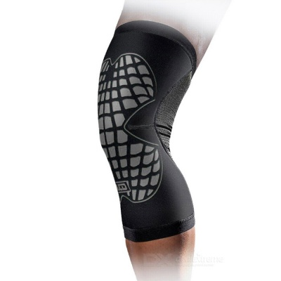 MLD LF1125 Cycling Protective Warm Nylon Kneecap - Black + Grey (S)