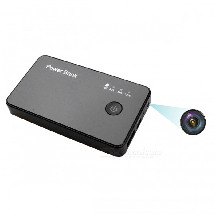 2in1 Power Bank Camera Motion Detection Digital Recorder - Black