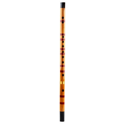 D Key Bamboo Flute - Light Coffee + Red + Multi-color
