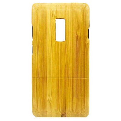 Retro Style Protective Bamboo Back Case for Oneplus Two - Yellow