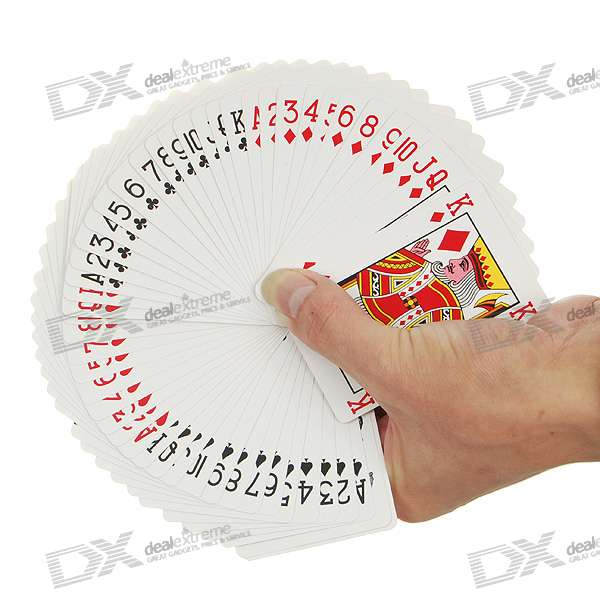 Magic Tricks Training Set Ultra Thin Playing Card - White (52-Pack)