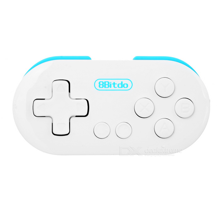 Zero 8Bitdo Bluetooth Wireless Gamepad - White + Blue