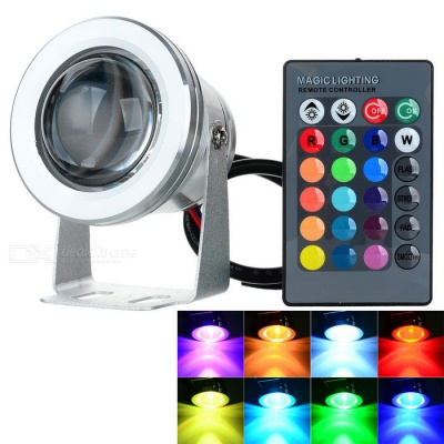 3W RGB LED Garden Light Underwater Lamp for Fish Tank - Silver (12V)