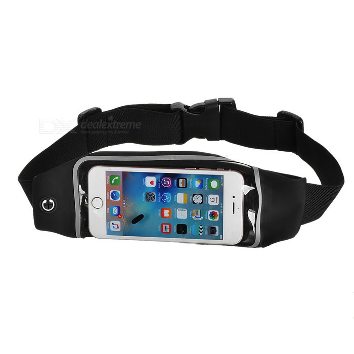 Outdoor Touch-Screen Waist Bag for IPHONE 6 PLUS / 6S PLUS - Black