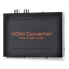 HDMI to HDMI Audio Extractor Converter w/ SPDIF + RCA L/R Splitter