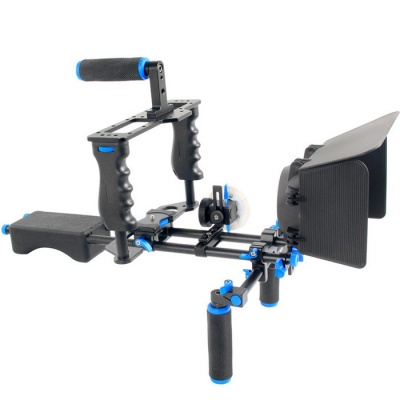 YELANGU D211 Shoulder Mount, Follow Focus, Camera Cage DSLR Rig Kit