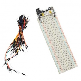 2-CH 5V/3.3V Power Supply + MB102 Breadboard + 65 Jumper Wires Kit